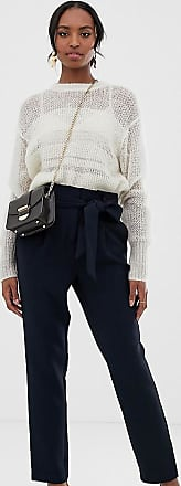 Y.A.S. Tall paperbag waist tapered trouser-Navy