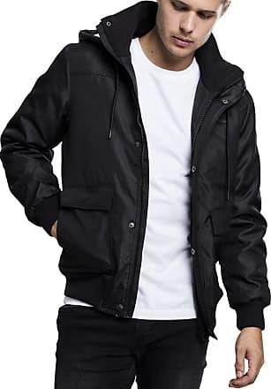 Urban Classics Mens Heavy Hooded Jacket, Black, S