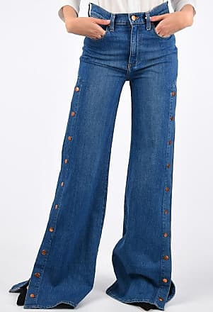 Alice & Olivia AO.LA 30cm Lateral Button Wide Leg LABEL Jeans size 28