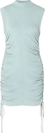 09482343a7a T Alexander Wang Ruched Cotton-jersey Mini Dress - Sky blue