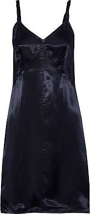 d8fc48f3d3dc Helmut Lang Helmut Lang Woman Twisted Satin-twill Mini Slip Dress Indigo  Size XS