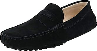 MGM-Joymod Mens Slip-on Black Suede Driving Moccasin Penny Loafers Boat Shoes 13 M UK