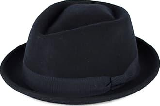 Hat To Socks Navy Wool Diamond Shaped Pork Pie Hat Waterproof & Crushable Handmade in Italy