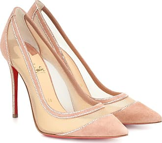 Christian Louboutin Galativi 100 suede and mesh pumps