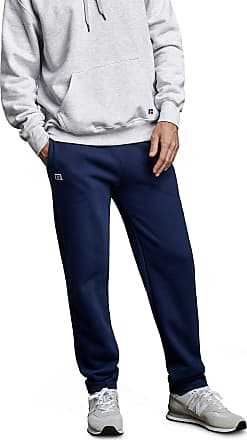 Russell Athletic Mens Cotton Classic Open Bottom Fleece Sweatpants, Navy, Medium