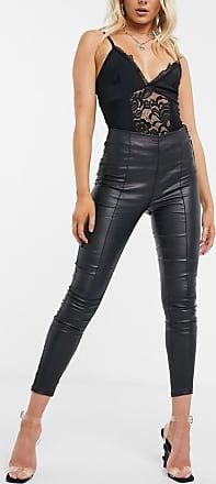 I Saw It First PU trouser with side zip in black