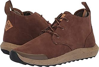 Freewaters Mens Freeland Premium Suede Outdoor Casual Dress Boot w/Arch Support & 3M Scotchgard Chukka, Brown, 12 Medium US