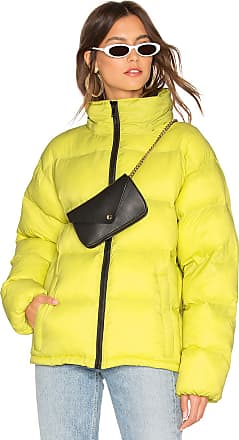 Sanctuary Just Chill Cropped Puffa Jacket in Lemon