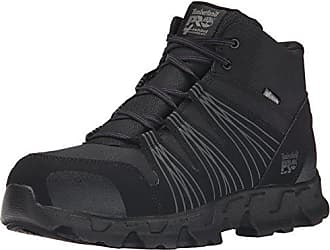 Timberland PRO Mens Powertrain Mid Alloy Toe ESD Industrial Hiking Boot, Black Synthetic, 9.5 W US