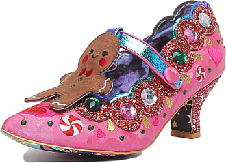 Irregular Choice Sweet Ginger Love Womens Low Heeled Court Shoes (7.5 UK, Pink (Pink A))