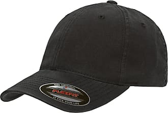 Yupoong Mens Low-Profile Unstructured Fitted Dad Cap Hat, Black, X-Large