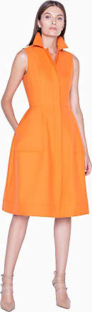 Akris Dress in Cotton Silk Double Face with Back Slit