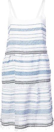 Lemlem Vestido Tiki com sobreposição - Branco