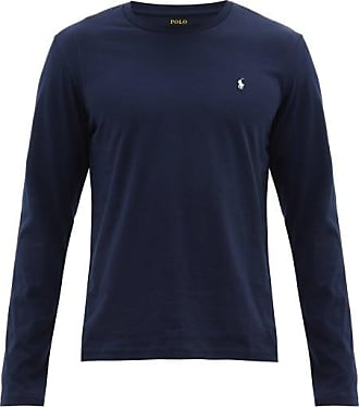 Polo Ralph Lauren Logo-embroidered Cotton Long-sleeve T-shirt - Mens - Navy