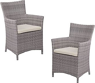 Southern Enterprises Bristow Outdoor Easy Chairs - Hand Woven Synthetic Wicker - 2 pc Set