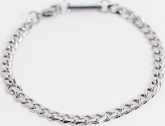 Icon Brand Braccialetto argento in acciaio inossidabile
