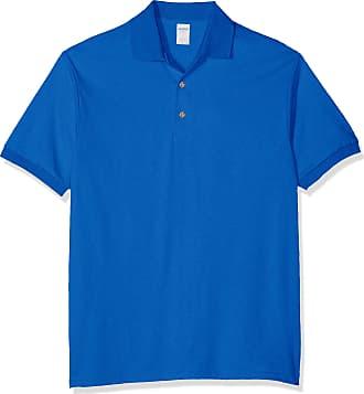 Gildan Mens DryBlend Adult Jersey Polo Shirt, Blue (Royal), Medium (Size: M)