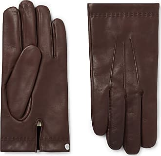 Mulberry Cashmere-lined Leather Gloves - Dark brown