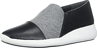 Via Spiga Womens Morgan Slip ON Sneaker, Black Leather/Heather Grey Jersey, 9 M US