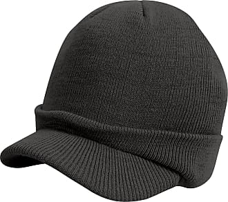Result Unisex Esco Army Knitted Winter Hat (One Size) (Charcoal Grey)