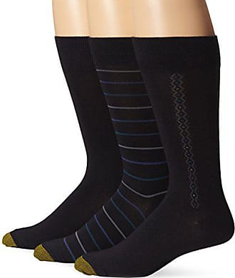 Gold Toe Mens 3 Pack Fashion Freshcare Dress Crew, Navy, Sock Size:10-13/Shoe Size: 6-12