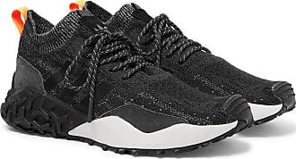 adidas Originals Atric F/2 Tr Suede-trimmed Primeknit Sneakers - Black