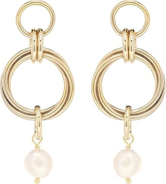 Magda Butrym Cedar 24kt gold-plated earrings with pearl