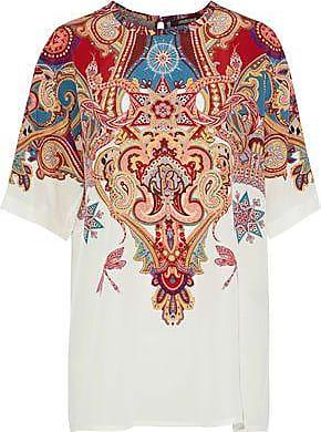 aa3132dd82454 Roberto Cavalli Roberto Cavalli Woman Printed Silk Crepe De Chine Top  Multicolor Size 46