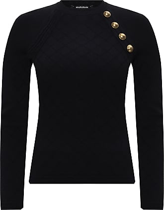 Balmain Top With Logo Womens Black