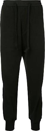 Ziggy Chen side stripe track pants - Black
