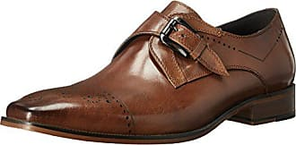 Stacy Adams Mens Kimball-Cap Toe Monk Strap Slip-On Loafer, Saddle Tan, 11.5 M US