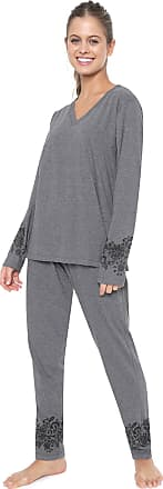 Pzama Pijama Pzama Estampado Cinza