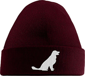 HippoWarehouse Golden Retriever Logo Embroidered Beanie Hat
