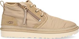 UGG High-Top Sneakers NEUMEL ZIP nylon Logo beige