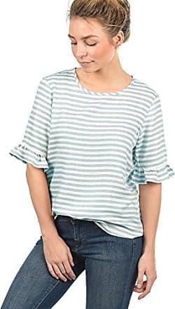 10fa46728a9882 Only JDY Maja Damen Blusenshirt Bluse Kurzarm Mit Streifen-Muster und  Rundhals Loose Fit,
