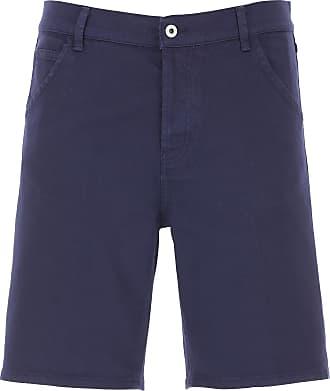 Dondup Shorts for Men On Sale, Navy Blue, Cotton, 2019, 30 31 32 33 34 35