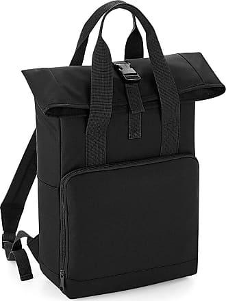 BagBase BG118 Adult Twin Handle Roll-Top Backpack - BLACK - O/S