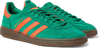 adidas Originals Handball Spezial Leather-trimmed Suede Sneakers - Green