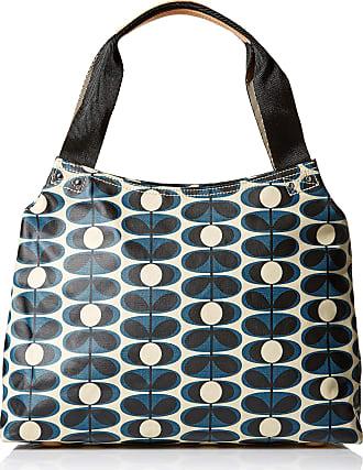 Orla Kiely Classic Zip Shoulder Bag, Indigo