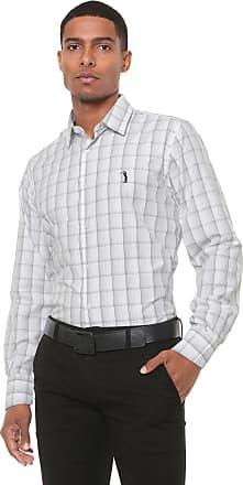 Aleatory Camisa Aleatory Slim Xadrez Branca