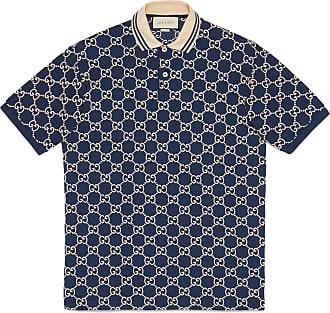 Gucci Poloshirt aus Stretch-Baumwolle mit GG Motiv
