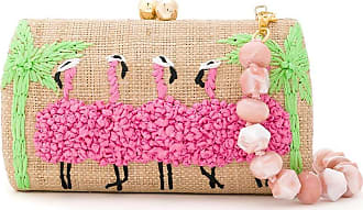 Serpui Bolsa clutch Flamingo bordado - Neutro