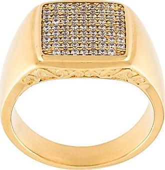 Nialaya embellished signet ring - Yellow