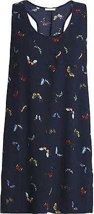 Joie Joie Woman Peri Printed Crepe Mini Dress Midnight Blue Size XS