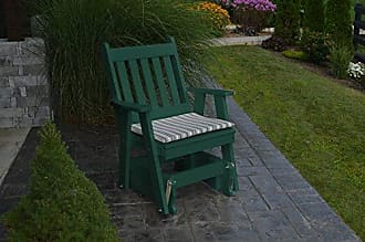 A & L Furniture A & L Furniture Poly Traditional English Gliding Chair, Turf Green