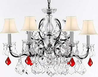 Gallery T22-2767 6 Light 26 Wide Crystal Chandelier with Fabric