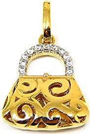 Prado Joias Pingente Em Ouro 18k Bolsa Com Zircônias