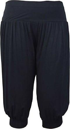 Momo & Ayat Fashions Ladies Jersey 3/4 Length Ali Baba Harem Yoga Pants UK Size - (Black, S/M (UK 8-10))