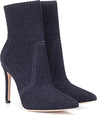 Gianvito Rossi Fiona denim ankle boots
