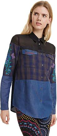 Desigual Camisa Desigual Recortes Azul